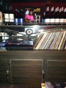 yes. a record player. and albums.